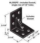 Simpson Strong-Tie HL35GPC Heavy Angle with Gusset Powder Coated Black