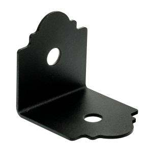 Simpson Strong-Tie APA4 Outdoor Accents Ornamental Angle 4X Powder Coat, Black Over ZMAX