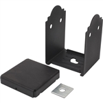 Simpson Strong-Tie APB66 Ornamental Post Base 6X6 Powder Coated Black over ZMAX