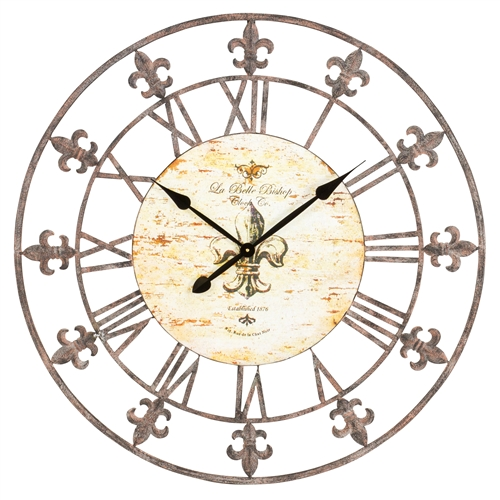 "13813 - 36"" Wrought Iron Wall Clock"