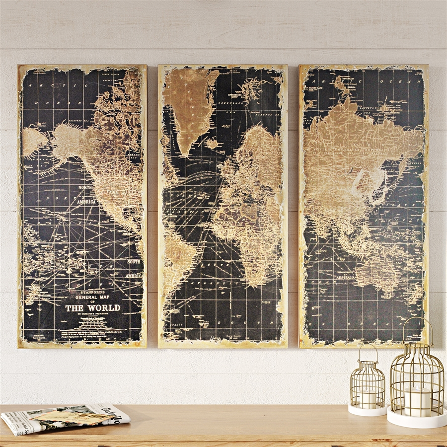 1434 stanford world map wall decor set of 3 gumiabroncs Gallery