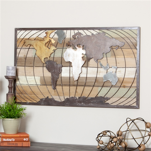 4479 - Marco World Map Wall Decor