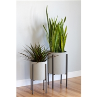 4770 - Tania Mid Century Planters (Set of 2)