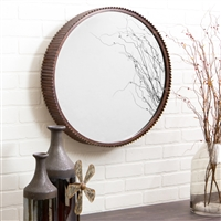 4868 - Harrison Rustic Metal Wall Mirror