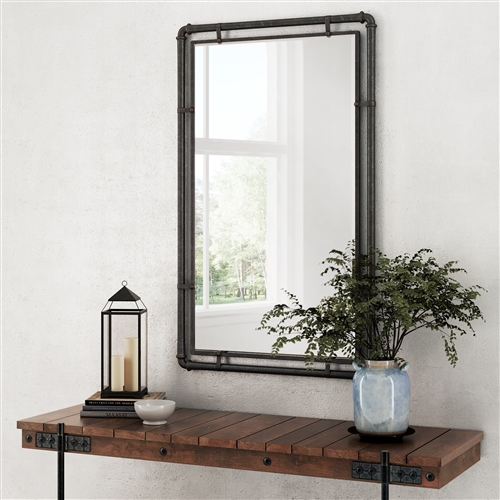 4882 - Morse Industrial Metal Wall Mirror
