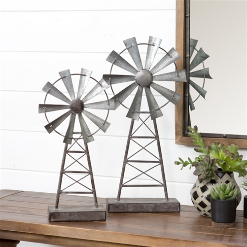 5124 - Farmhouse Windmill Table Top Decor (Set of 2)