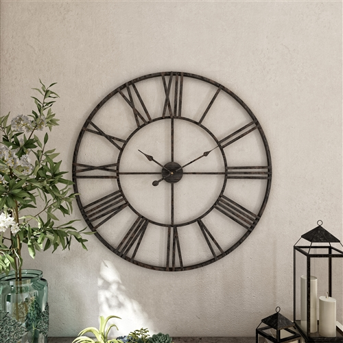 5155 - Solange Round Metal Wall Clock