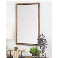 5520 - Marlon Rustic Wood Wall Mirror