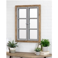 5537 - Somerset Window Pane Wall Mirror