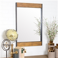 5544 - Cliveden Wood & Metal Wall Mirror