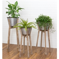 5582 - Hayes Modern Rustic Planters (Set of 3)
