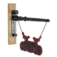 5667 - Fen Iron & Wood Welcome Sign