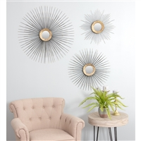 5773 - Boteh Mid Century Wall Mirrors (Set of 3)