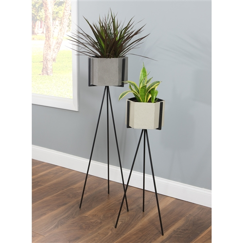 5797 - Ethan Mid Century Planters (Set of 2)