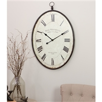 5841 - Ines Large Oval Wall Clock