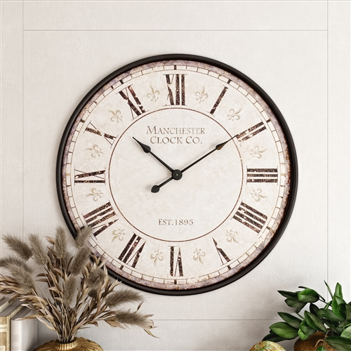 5858 - Valerie Large Round Wall Clock