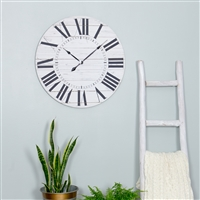 5865 - Estelle French Country Wall Clock with Shiplap Face