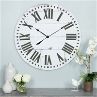 5872 - Lisette French Country Wall Clock with Shiplap Face