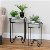 5903 - Easton Metal Planter Tables (Set of 2)