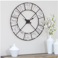 5926 - Zandra Metal Wall Clock