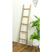 5995 - Dora 5 ft Decorative Ladder - Walnut Finish