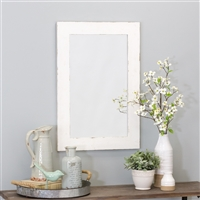 6091 - Morris Wall Mirror - White 30 x 20