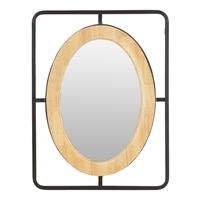 6169 - Vergil Wood & Metal Wall Mirror