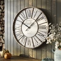 6275 - Monroy Rustic Farmhouse Wall Clock