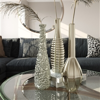 6629 - Tianna Silver Vases (Set of 3)