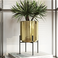 6634 - Jodi Mid Century Table-top Planter - Gold