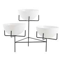 6640 - Zangora Modern Ceramic 3-Tier Planter