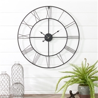 6657 - Alpin Round Metal Wall Clock