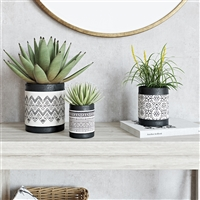 6718 - Nikos Ceramic Planters (Set of 3)