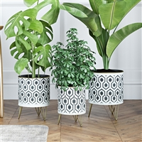 6954 - Andrey Modern Planters (Set of 3)
