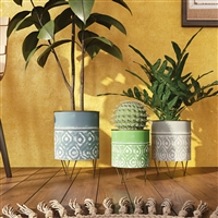6961 - Laurent Modern Planters (Set of 3)