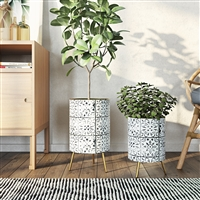 6978 - Bantu Modern Planters (Set of 2)