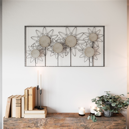 6992 - Whitney Metal Flower Wall Decor