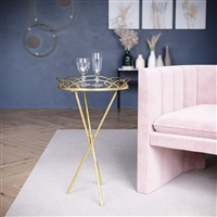 7050 - Rachelle Gold Accent Table