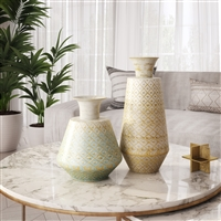 7081 - Luxora Metal Vases (Set of 2)