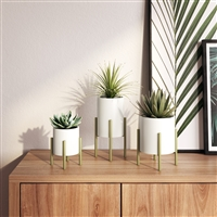 7166 - Brevyn Small Mid Century Modern Planters (Set of 3)