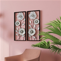 7197 - Bianca Metal Flower Wall Decor (Set of 2)