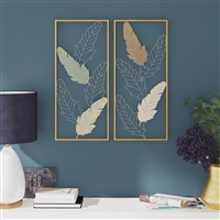 7203 - Mina Metal Leaf Wall Decor (Set of 2)