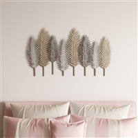 7241 - Elwyn Metal Leaf Wall Decor
