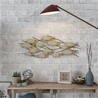 7265 - Carlen Metal Fish Wall Decor