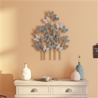 7289 - Deja Metal Flower Wall Decor