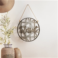 7296 - Blessed Metal Wall Decor