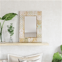 7371 - Nyah Wood Wall Mirror