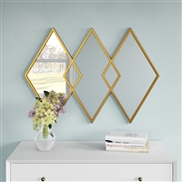 7456 - Azra Modern Diamond Wall Mirror