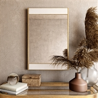 7678 - Lina Modern Wall Mirror Gold with Marble
