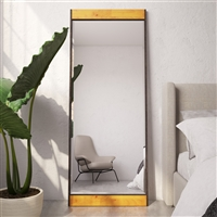 7708 - Cliveden Industrial Wood & Metal Floor Mirror